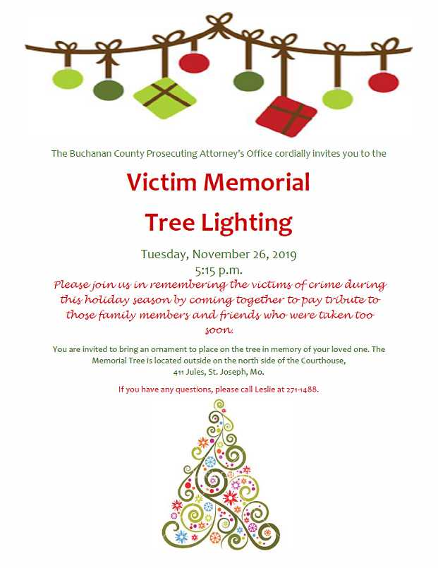 2019 Memorial Tree Lighting